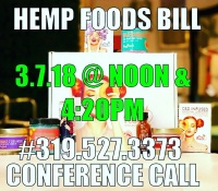 Hemp Foods Bill 2018