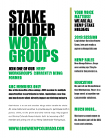 Hemp Stakeholder Workgroups
