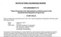 2017 Public Hearing - Rule Making