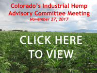 Hemp Advisory Committee Meeting 11.27.17